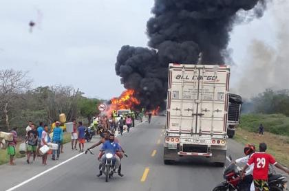 Accidente en la vía Barranquilla - Ciénaga