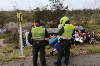 Policías en sitio donde murieron 7 personas