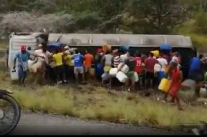 Camión cisterna que explotó en Tasajera (Magdalena)