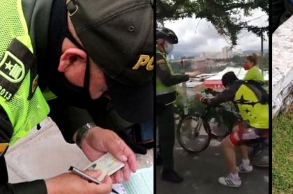 Policía multa a ciclista que fingió empujón en Bucaramanga