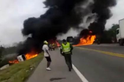 Relatos de familiares de heridos en explosión de camión en Magdalena