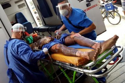 Herido en explosión de camión con gasolina en Magdalena