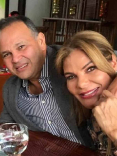 José 'Ñeñe' Hernández y María Mónica Urbina.