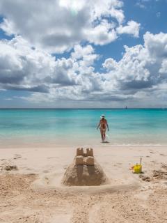 Mujer en Barbados.