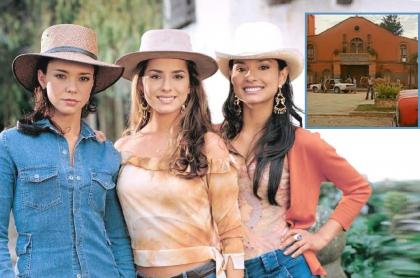Natasha Klauss, Danna García y Paola Rey, actrices.