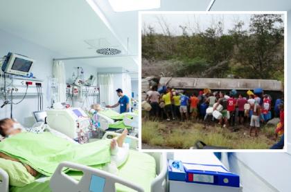 Imagen de referencia: pacientes COVID-19 / Habitantes de Tasajera alrededor del camión antes de que explotara