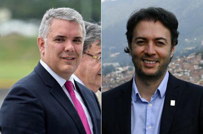 Iván Duque, presidente, y Daniel Quintero, alcalde de Medellín.