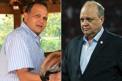 'Ñeñe' Hernández, ganadero, y Jorge Enrique Vélez, presidente de la Dimayor.