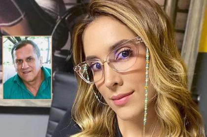 Daniela Ospina, modelo y empresaria, y su padre, Hernán Ospina.