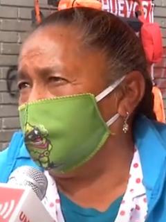 Vendedora ambulante de Bogotá