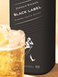 Whisky en botella de papel.