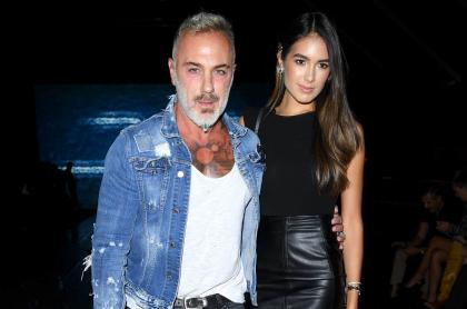 Gianluca Vacchi reveló sexo de su bebé con Sharon Fonseca desde helicóptero.