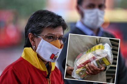 Le reclaman a Claudia López por dar mercados con bebidas azucaradas