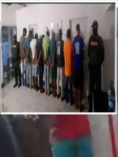 Entrega de 9 implicados en saqueo a furgón de pescado