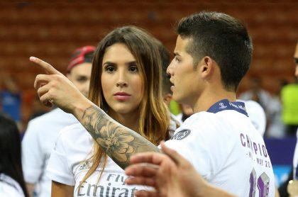Daniela Ospina y su hija viajaron a España a visitar a James Rodríguez.