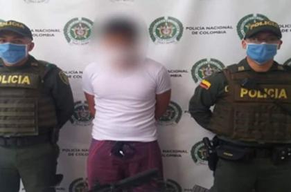Joven capturado con fusil en Bello, Antioquia