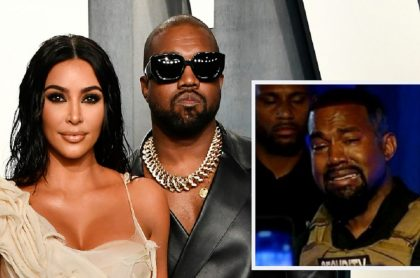 Kim Kardashian y su esposo, Kanye West / Kanye West en su discurso de lanzamiento a la presidencia de EE. UU.