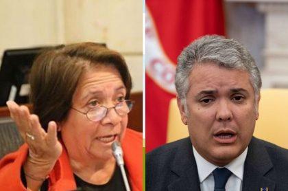 Aída Avella e Iván Duque