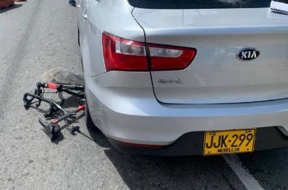 Ciclista atropellado en Antioquia