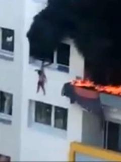 Dos niños saltan de cuarto piso, porque apartamento se incendiaba, y sobreviven.