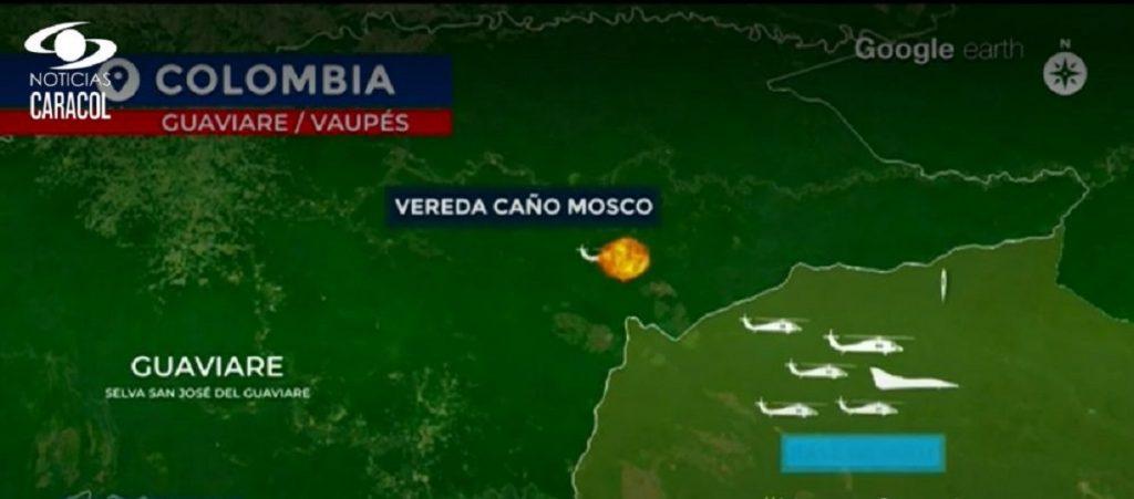 Imagen recreada por Noticias Caracol