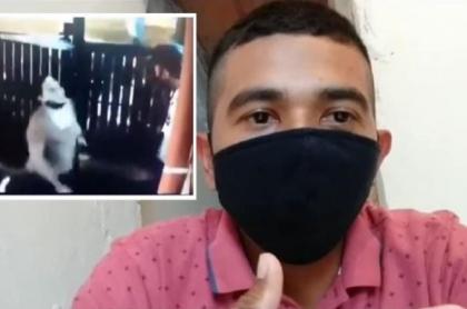 Mujer escupió a vigilante en el rostro