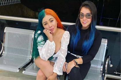 Apasionada escena de Yina Calderón con Manuela Gómez en 'putifiesta'