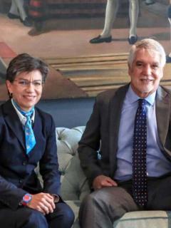 Enrique Peñalosa y Claudia López