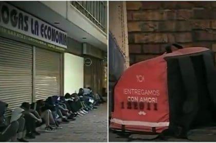 Venezolanos, tras pelea por control de domicilios
