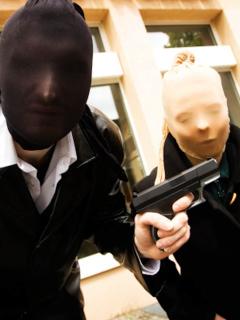 Robo en Barranquilla por ladrones disfrazados de policías.