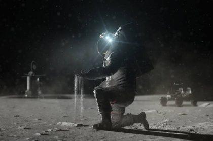 Nasa: un paisaje lunar polvoriento