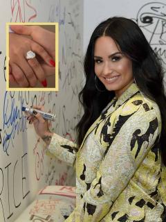 ¡Bling bling! Anillo de compromiso de Demi Lovato costó varios millones de dólares