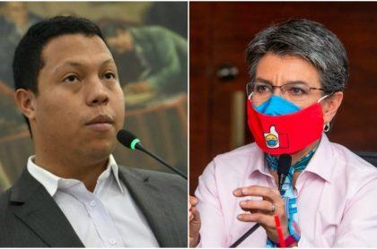 Jorge Colmenares y Claudia López