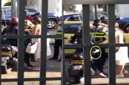 Mujer amenaza con cuchillo a guarda de tránsito en Ibagué
