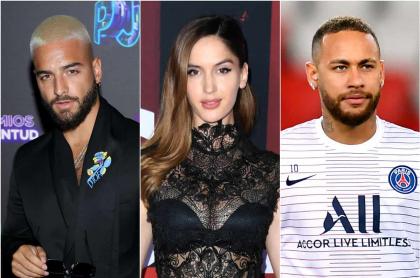 Maluma, Natalia y Neymar Jr