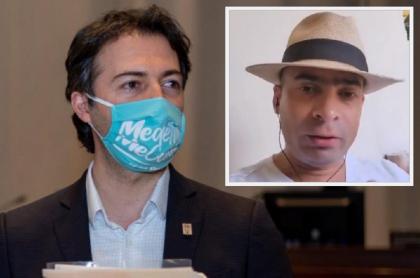 Daniel Quintero Calle, alcalde de Medellín / Luis Emilio Arboleda, simpatizante del uribismo.