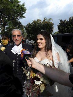 [Video] Sin 'Tantita pena', hija de Alejandro Fernández se casó con poco distanciamiento
