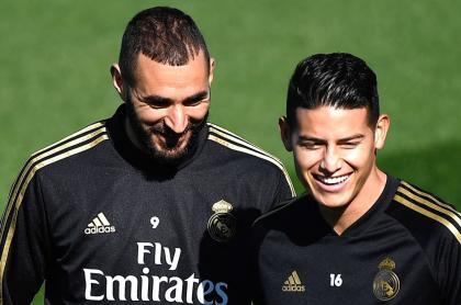 Karim Benzema y James Rodríguez
