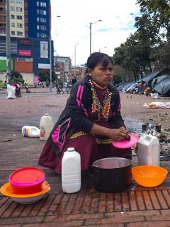 Comunidad embera desplazada en Bogotá