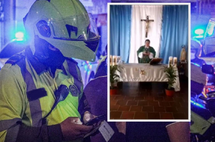 Policía interrumpe a sacerdote en misa por Facebook