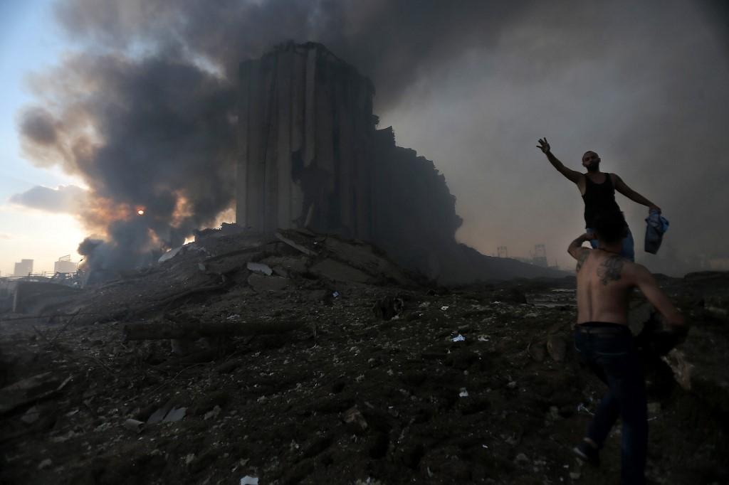 [Fotos] Como un apocalipsis, así quedó Beirut luego de la explosión que dejó decenas de muertos