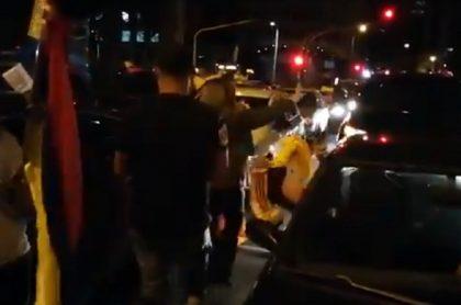 Protestas a favor de Uribe, en Bogotá