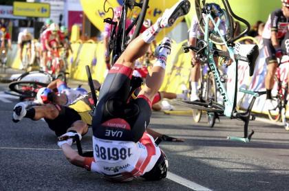 Caída en Tour de Polonia
