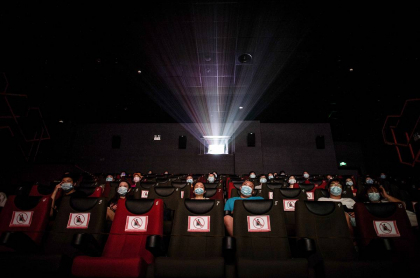 Espectadores en sala de cine china