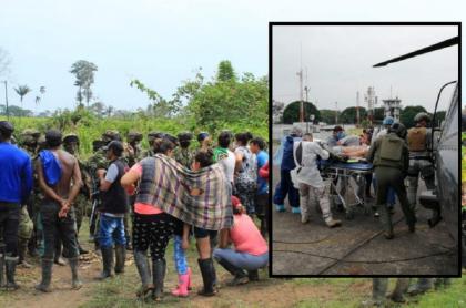 Campesinos de Vista Hermosa, Meta, hablan con el Ejército. Soldado herido en ataque en Vista Hermosa, Meta, es trasladado a Villavicencio.