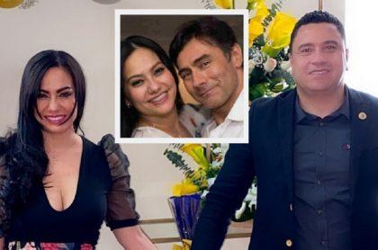 Haychelt Benitorevollo y su actual pareja, Carlos Posada, alcalde de Santa Rosa de Osos, Antioquia / Haychelt Benitorevollo y su exesposo, Mauro Urquijo.