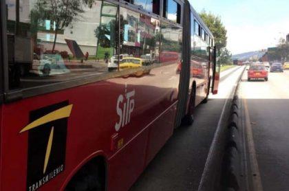 Accidente de dos buses de Transmilenio