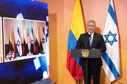 Iván Duque anuncia TLC de Colombia con Israel
