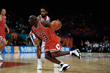 Michael Jordan, con los Bulls de Chicago