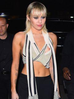 Miley Cyrus en un evento deMarc Jacobs en la Semana de la moda de Nueva York